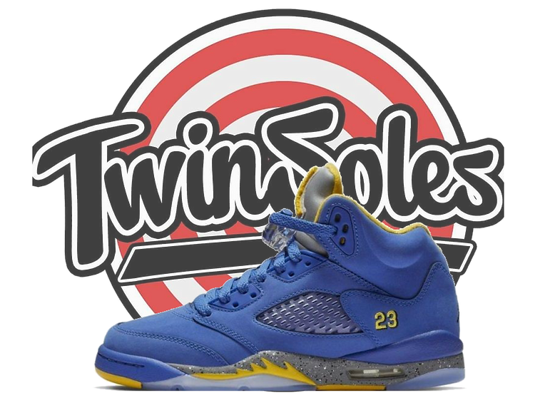 "Jordan Retro 5 ""Blue Laney"""