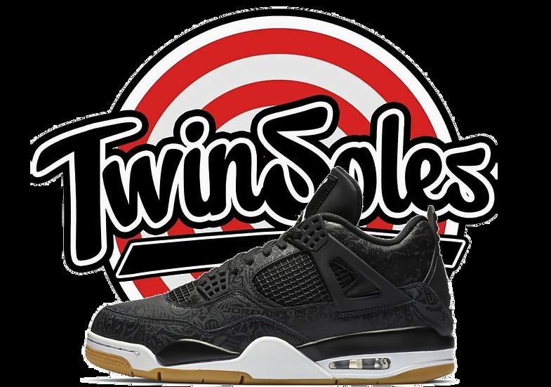 """Jordan Retro 4 """"Black Gum Laser"""""""