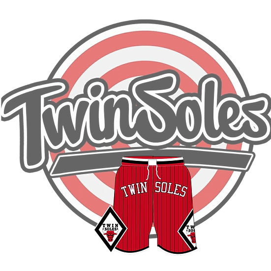 Twin Soles Bulls Shorts Red