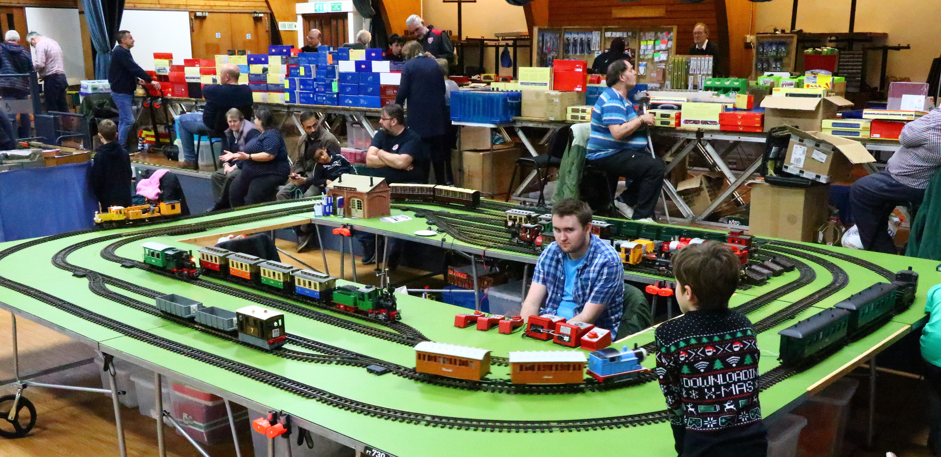 The main hall with G Scale Junction