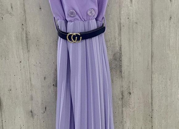 Kleid mit Plisseeabschluss