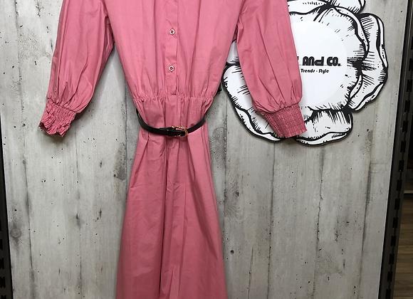 Pinkes Kleid A-Linie