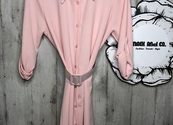 Long Bluse mit Gürtel
