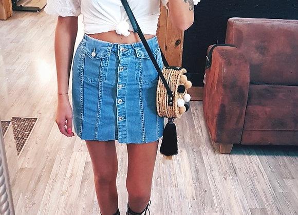 Jeans Rock mit Knöpfe