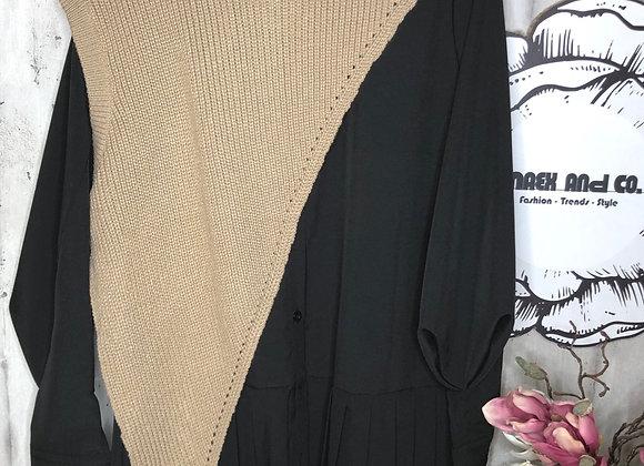 Blusenkleid mit Strick