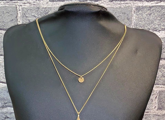 Halskette mit Perlen-Tropfen