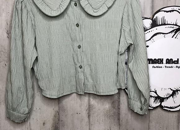 Bluse mit Bubikragen