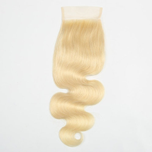 Vain Beauty Blonde Wavy Closure 613