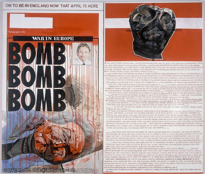 'Bomb Bomb Bomb'- Diptych (1999) Acrylic