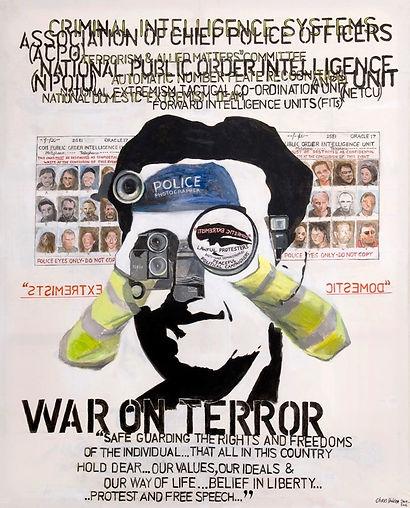 Orwellian (2009-10) Acrylic on Canvas. 1