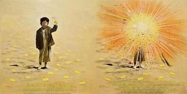 Terrorism-Diptych (2007) Acrylic on Canv