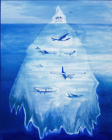 Tip of the Iceberg (2008) Acrylic on Can