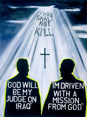 The 6th Commandment (2006) Acrylic on Ca