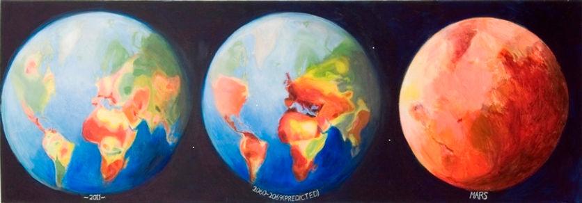 Decreasing Water (2012) acrylic paint on