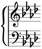 key of A flat