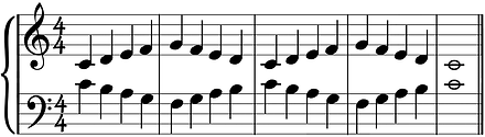 contrary motion in middle C position
