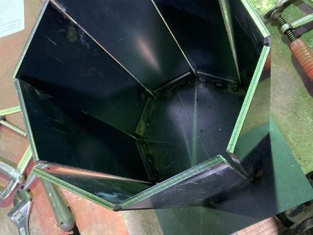 方行屋根の製作棟金物 Made at 桃鉄