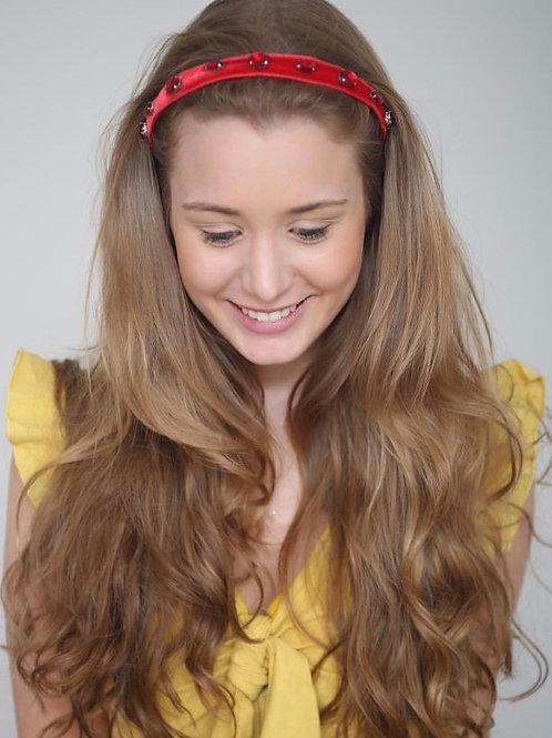 Tiara de cabelo Alexis em veludo