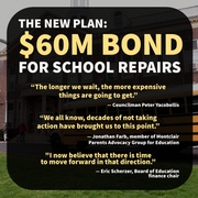 NEW PLAN: FULL SPEED AHEAD WITH A $60M MONTCLAIR SCHOOLS BOND