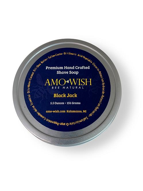 Premium Hand Crafted Shave Soap - Black Jack