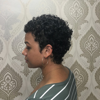 Beautiful Curly Pixie Cut Structured to Your Lifestyle and Natural Curls.