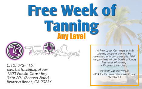Free Tanning in Hermosa Beach