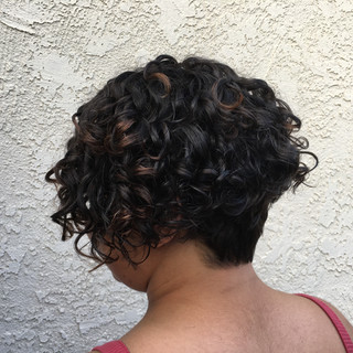 Tapered Curly Bob for Natural Curls.