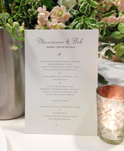 Wedding ( Menu ) Invitation