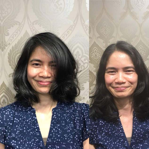 A Precision Cut Can Make a difference.  Chech out this Before & After on this Beautiful Lady.