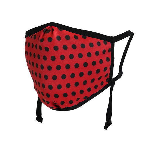 red with black dots