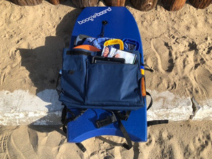 Packed Beach Porter with Boogie Board