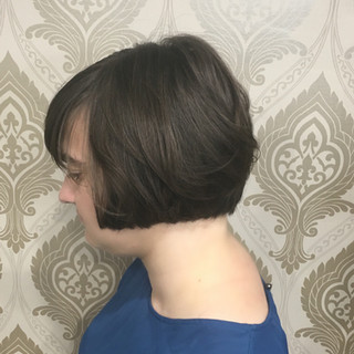 Bob Cut with Texture and bangs