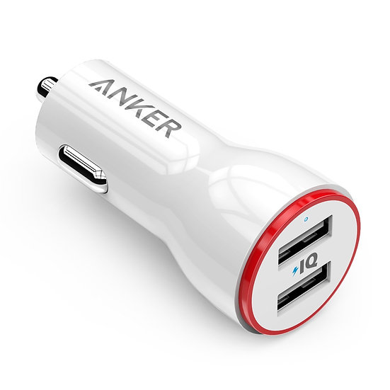 Anker 24W Dual USB Car Charger White