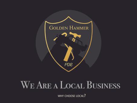 Always choose a LOCAL dent repair company for hail damage repair!