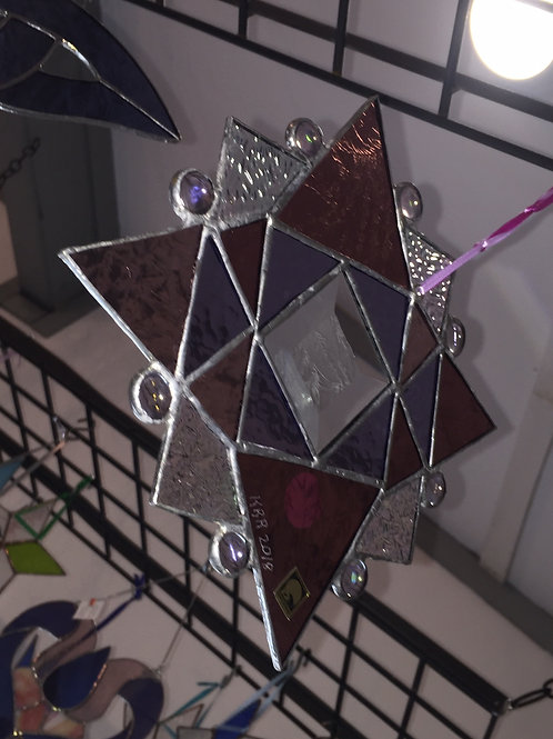 Sun catcher prism star shaped