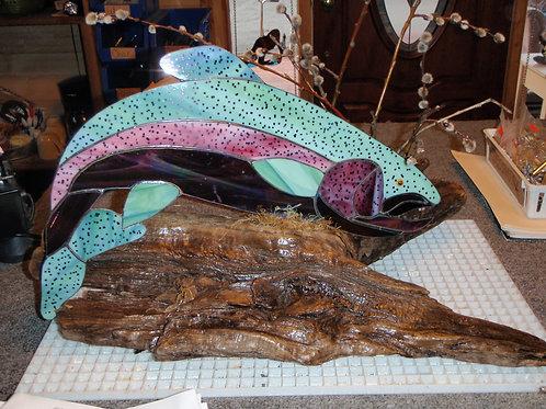 Salmon on Driftwood