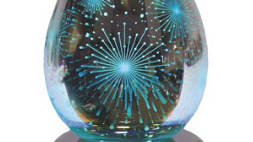 Electric Wax Melt Burner LED Colour Changing - 3D Firework gift set