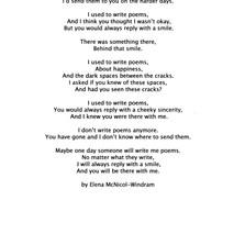 "Elena McNicol-Windram - ""I Used To Write Poems"""