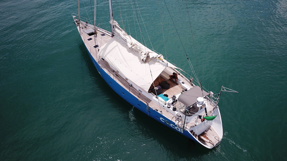 Sailing Yacht COCAL is a luxury Yacht with lots of space.