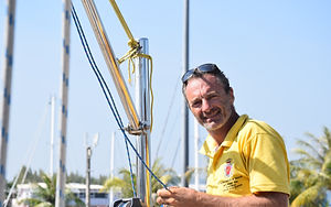 Captain Andrea on S.Y. COCAL