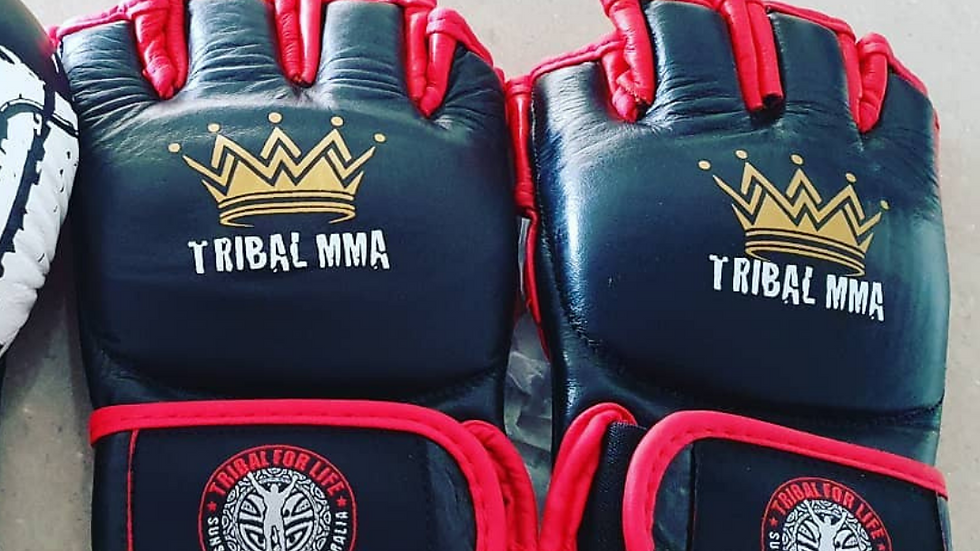 Tribal MMA leather Gloves