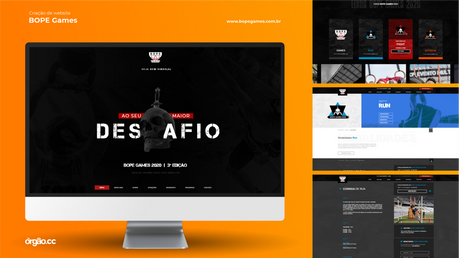 Órgão - Criação de Website - BOPE Games.