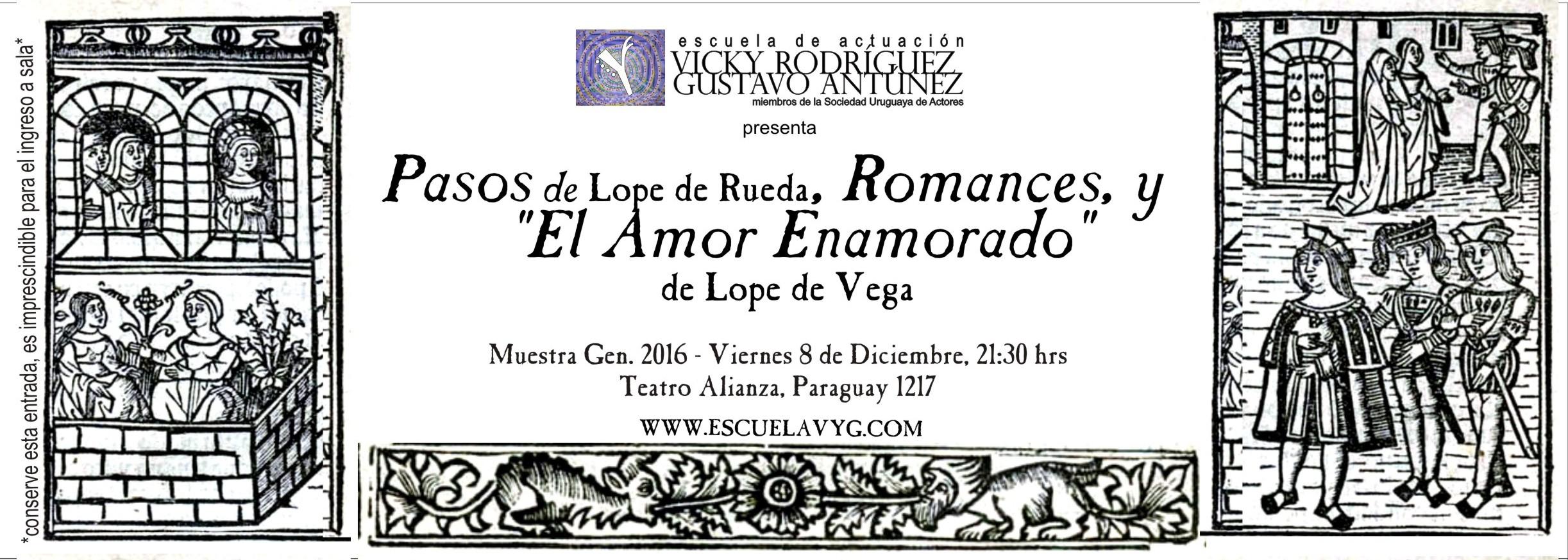 Pasos, Romances, El Amor Enamorado