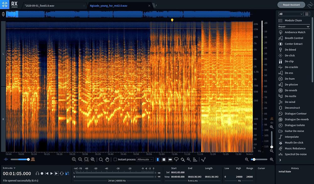 音声データに混入した成分