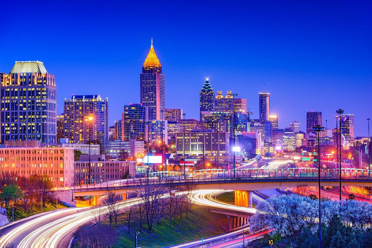 Atlanta, Georgia, USA downtown skyline._