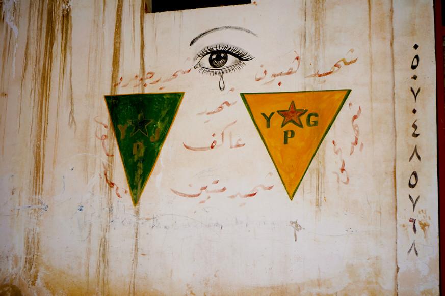 Graffiti at Turkish Border with Kobani