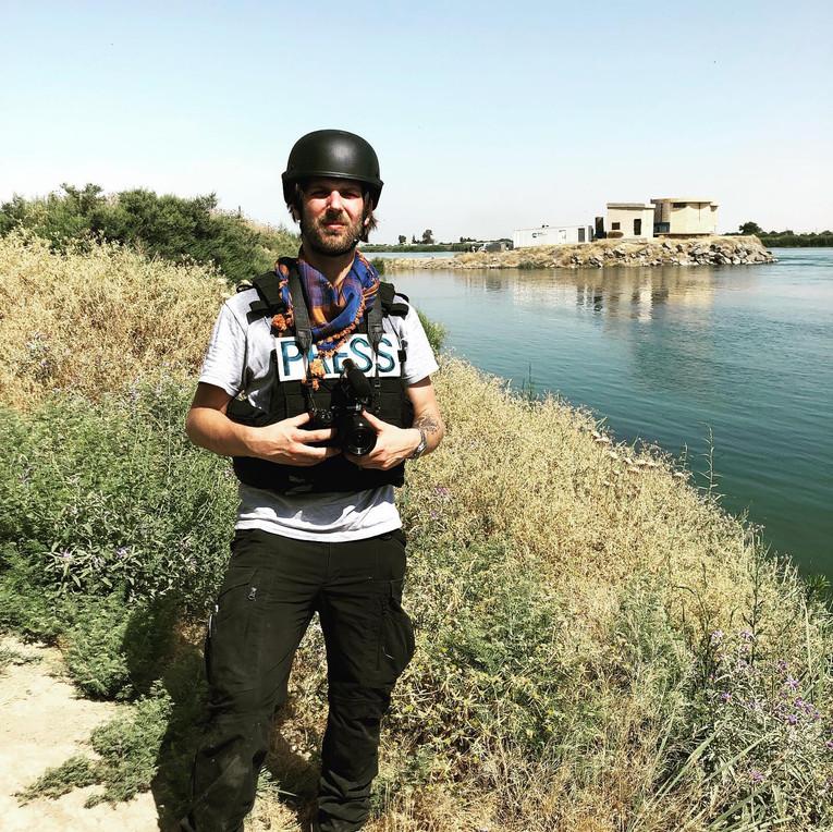 Me outside of Raqqa
