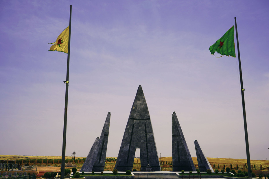 Memorial for martyrs in Kobani, Rojava