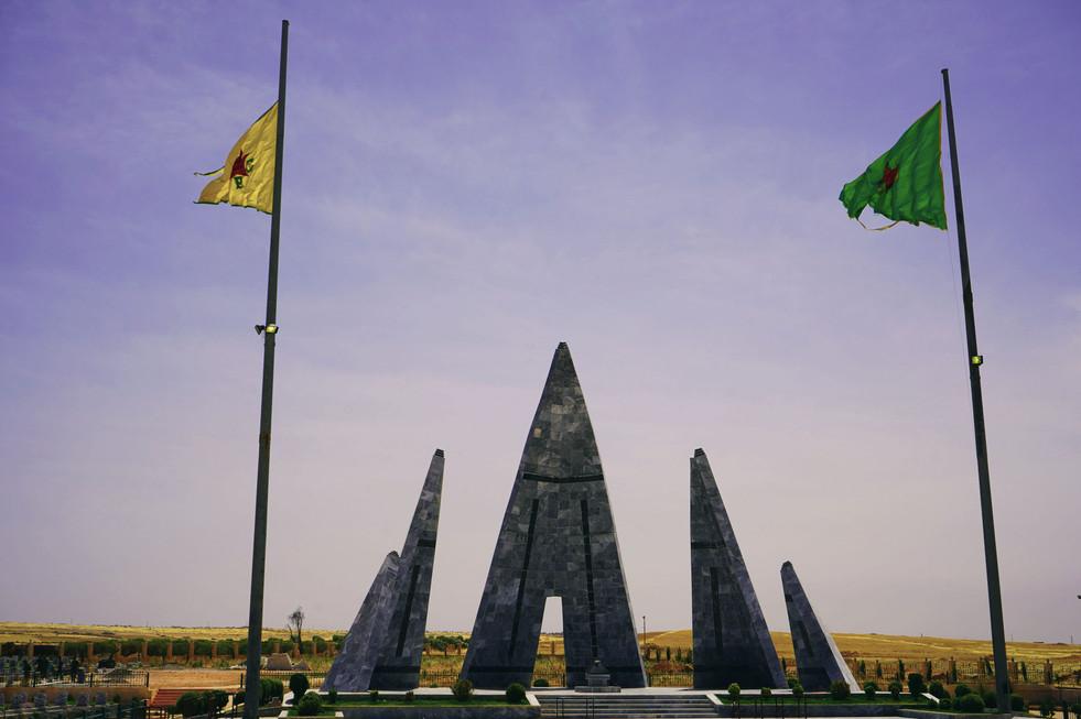 Memorial for martyrs in Kobani, Rojava