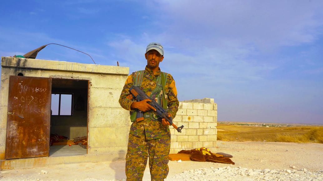 SDF Soldier on Manbij Frontline